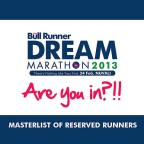 TBR Dream Marathon 2013: Masterlist of Reserved Runners